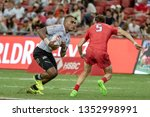 singapore april 28 fiji 7s team ...   Shutterstock . vector #1352998991