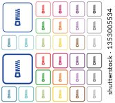 vertical zipper color flat... | Shutterstock .eps vector #1353005534