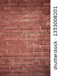 vertical red brick wall...   Shutterstock . vector #1353008201