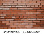 red brick wall texture...   Shutterstock . vector #1353008204