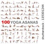 Set Of Yoga Poses Isolated On...
