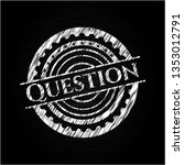 question chalk emblem written... | Shutterstock .eps vector #1353012791