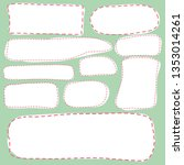 set of hand drawn frames with...   Shutterstock .eps vector #1353014261