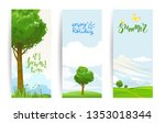 summer or spring template for... | Shutterstock .eps vector #1353018344