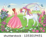Beautiful Princess With White...