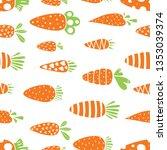 carrot seamless pattern for... | Shutterstock .eps vector #1353039374
