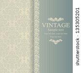 wedding invitation cards... | Shutterstock .eps vector #135305201
