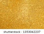 golden glitter abstract... | Shutterstock . vector #1353062237