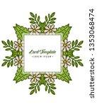 vector illustration design card ... | Shutterstock .eps vector #1353068474