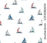 marine seamless pattern with... | Shutterstock .eps vector #1353080654