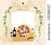 pizza illustration | Shutterstock .eps vector #135308237