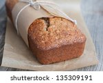 banana bread with nuts in the... | Shutterstock . vector #135309191
