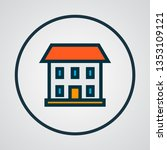house icon colored line symbol. ... | Shutterstock .eps vector #1353109121