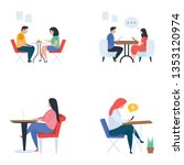 meetings and refreshment flat... | Shutterstock .eps vector #1353120974
