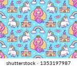 mermaids  magic unicorns ...   Shutterstock .eps vector #1353197987