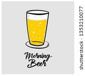 glass of beer | Shutterstock .eps vector #1353210077