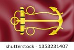 3d flag of lord high admiral of ... | Shutterstock . vector #1353231407