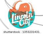 3d seal of lincoln city  oregon ... | Shutterstock . vector #1353231431