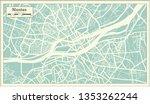 nantes france city map in retro ... | Shutterstock .eps vector #1353262244