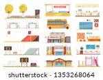 school facilities flat elements ... | Shutterstock .eps vector #1353268064