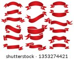 vector red banner designs | Shutterstock .eps vector #1353274421