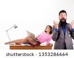 sexy lady worker attractive... | Shutterstock . vector #1353286664