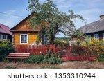 wooden folk cottages in soce ... | Shutterstock . vector #1353310244
