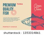 premium quality tuna. abstract... | Shutterstock . vector #1353314861