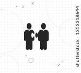 team  partnership  vector best... | Shutterstock .eps vector #1353318644