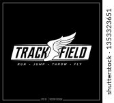 track and field logo with... | Shutterstock .eps vector #1353323651