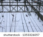 train covered with... | Shutterstock . vector #1353326057