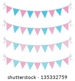 a set of four lines of bunting | Shutterstock .eps vector #135332759