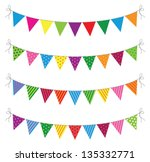 a set of four lines of bunting | Shutterstock .eps vector #135332771