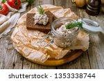 forshmak of herring with black... | Shutterstock . vector #1353338744