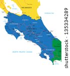 costa rica map | Shutterstock .eps vector #135334289