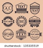 racing insignia  vintage style  ... | Shutterstock .eps vector #135335519