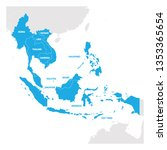 Southeast Asia Region. Map Of...