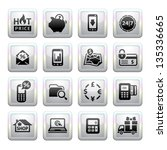 shopping icons. gray. web 2.0... | Shutterstock .eps vector #135336665