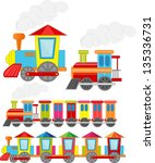 set of train set | Shutterstock .eps vector #135336731