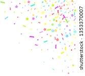 sprinkles grainy. cupcake... | Shutterstock .eps vector #1353370007