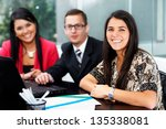 group of business people at... | Shutterstock . vector #135338081