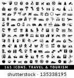165 icons. travel symbols and