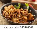 organic mexican shredded beef... | Shutterstock . vector #135340049