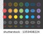 chakras system of human body  ... | Shutterstock .eps vector #1353408224