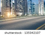 the city and the road in the...   Shutterstock . vector #135342107
