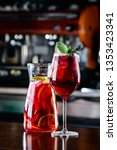 sangria spanish drink of red... | Shutterstock . vector #1353423341