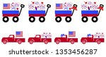 us independence day truck... | Shutterstock .eps vector #1353456287