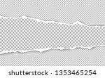 horizontal torn paper edge.... | Shutterstock .eps vector #1353465254