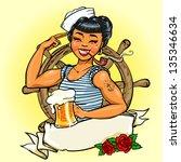 sailor girl  vector...   Shutterstock .eps vector #135346634