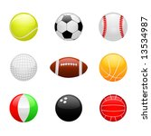 glossy ball set vector | Shutterstock .eps vector #13534987